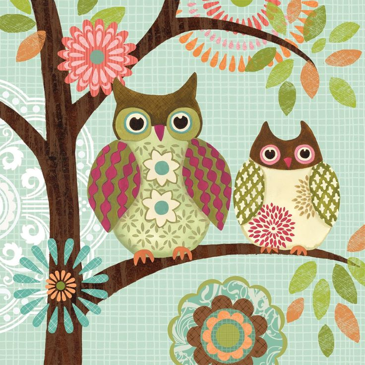 Forest Owls I by Jennifer Brinley. Gallery wrap by InGallery.com