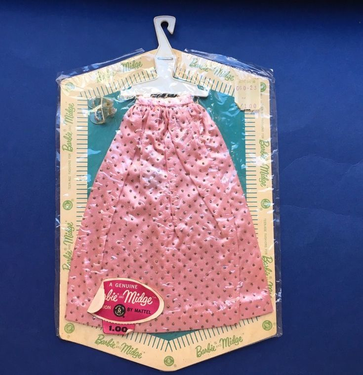 Vintage Barbie PINK SATIN SKIRT W/ SILVER GLITTER NRFB &  SILVER GLITTER SHOES  #DollswithClothingAccessories