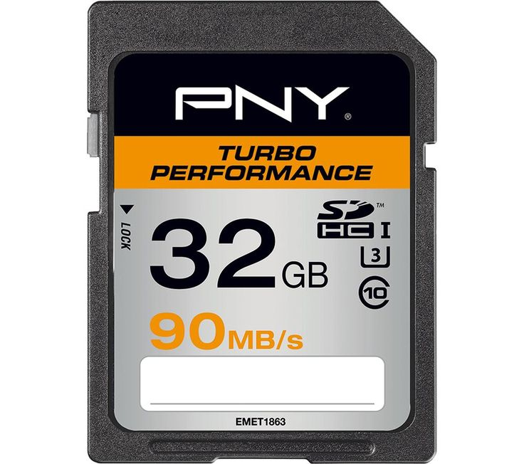 Buy PNY Turbo Performance Class 10 Memory Card - 32 GB Price: £19.96 Perfect for serious camera enthusiasts, the 32 GB PNY Turbo Performance Class 10 SDXC Memory Card provides ample storage space and is ideal for burst mode and action photography with advanced DSLR cameras. It's ready for 4K Ultra HD recording too, so you can also use it with your 4K camcorder or action cam.This SDXC Memory...