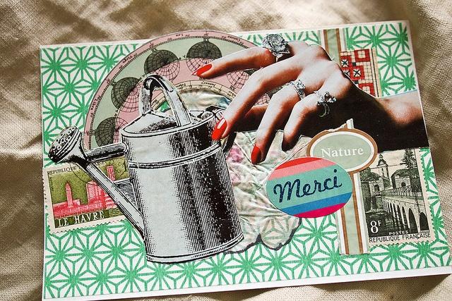 Paris week postal cards by annasergeevna, via Flickr
