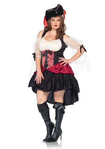 Wicked Wench Costume Adult Womens Plus Size Pirate Halloween Fancy Dress | eBay