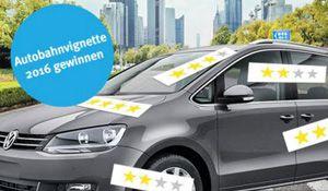 Gewinne mit Autoricardo.ch und etwas Glück eine Autobahnvignette 2016 im Wert von CHF 40.- . Einfach dein Auto bewerten und Vigniette gewinnen! http://www.alle-schweizer-wettbewerbe.ch/autobahnvignette-2016-gewinnen/