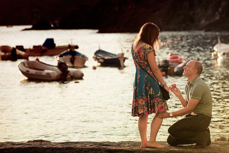 Wedding Proposal in Vernazza, Cinque Terre