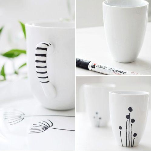 Painting with porcelain pen - Porselen kalemiyle size ait tasarımlar