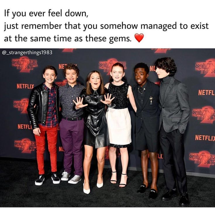 "Now when my mom is stressed I say, ""Well you managed to live in the same year as Finn Wolfhard. Your okay."""