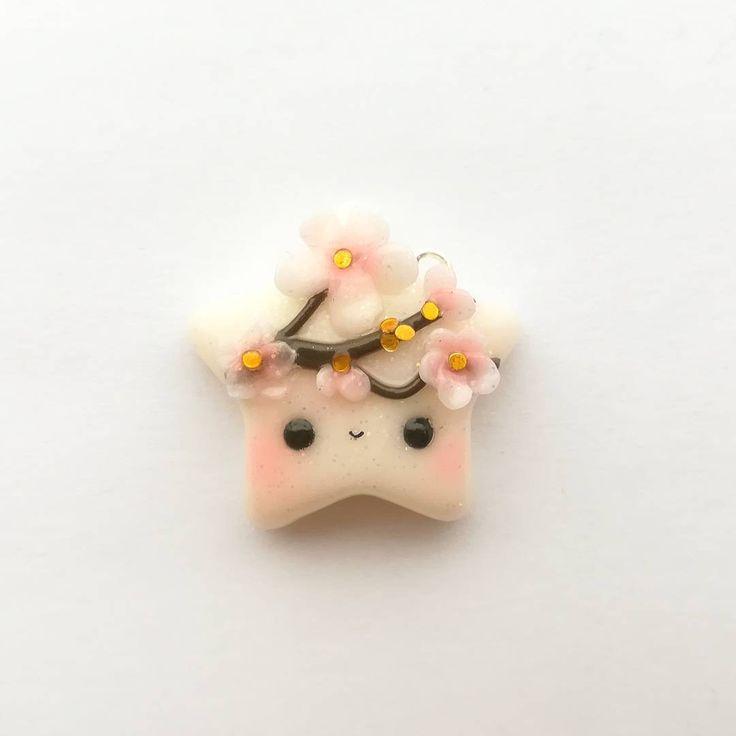 #kawaii #charms #polymer #clay #sakura #star #charm
