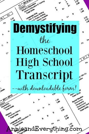 demystifying the homeschool high school transcript with fillable pdf homeschool it is and