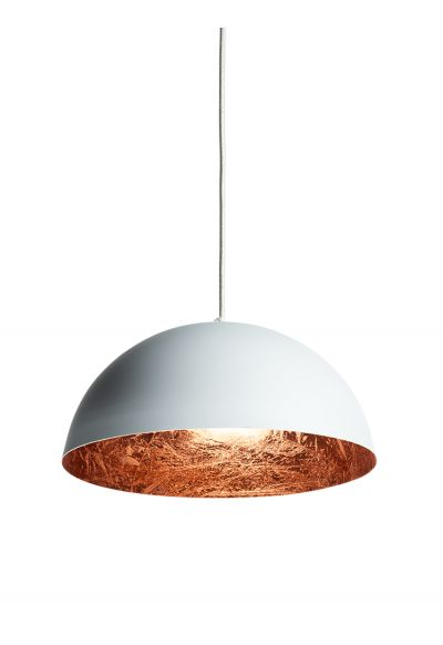 White & Copper Pendant Lightshade