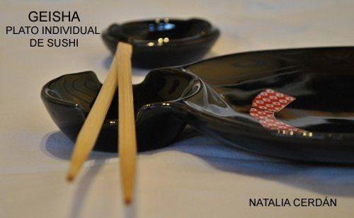 Plato Para Sushi Geisha Diseño Original