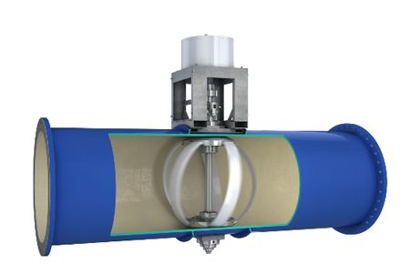 Lucid Energy in-pipe water turbine