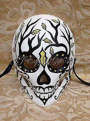 Dia Delos Muertos Día De Los Muertos Full Face Para Mujer Halloween Máscara de W7