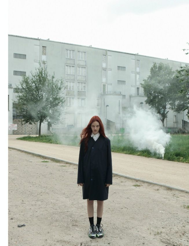 Codie Young Dons Raf Simons for Black F/W 2012 by Karen Inderbitzen Waller