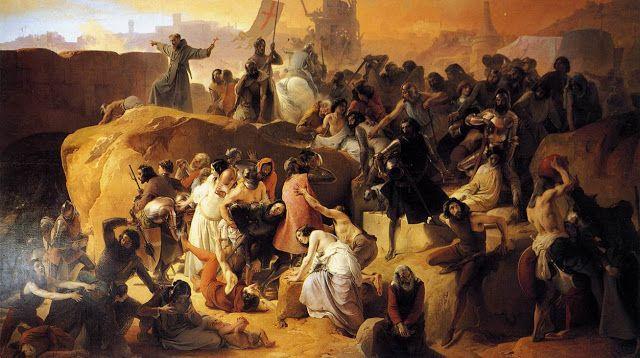 Σταυροφόροι της εβδόμης σταυροφορίας κοντά στην Ιερουσαλήμ (1836~50)