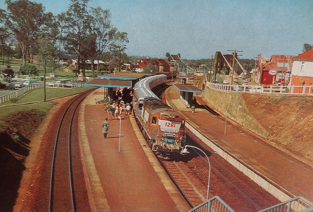 Indooroopilly railway station,brisbane 1970's Took the train to school every morning