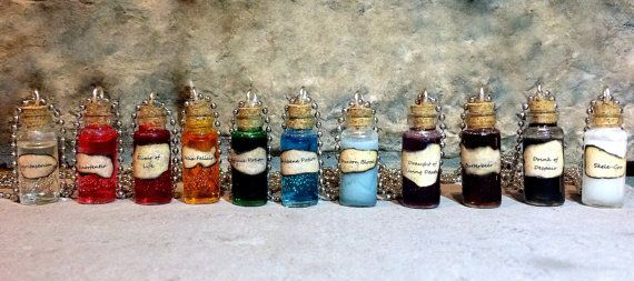 Harry Potter Potion Necklace Pick A Potion by MagicalStyles