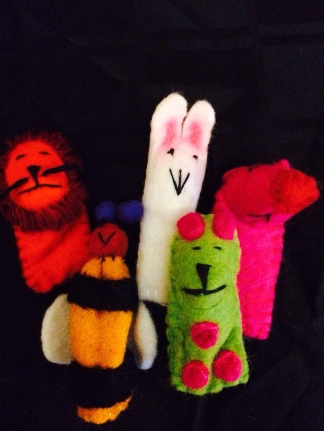 5 Gorgeous Felt Finger Puppets Hand Made In Nepal