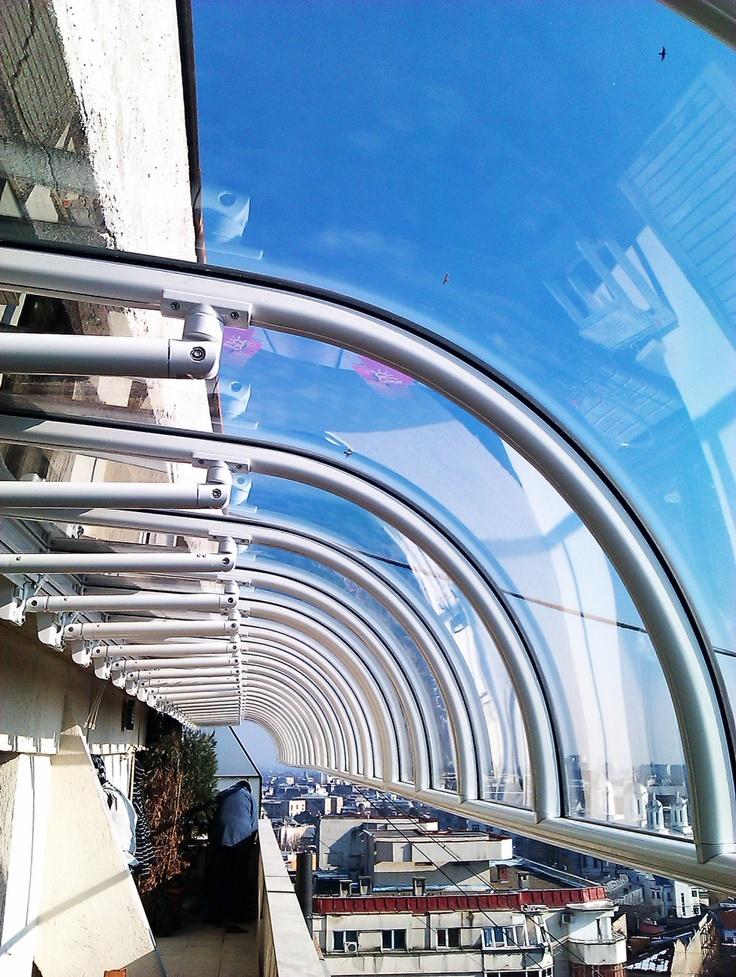 Copertine fixe policarbonat, copertine Arteurbana Gibus pentru terase si terase balcon.