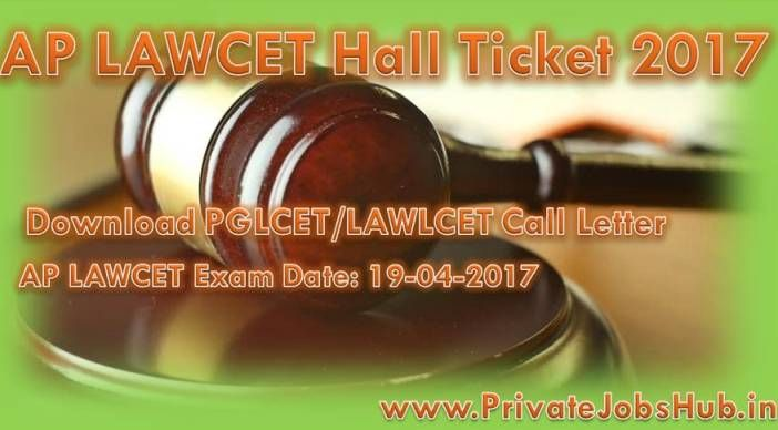 AP LAWCET Hall Ticket available now!!! Candidates, who have applied for the AP LAWCET recruitment and now preparing for the written exam, are informed that Hall Ticket is available on the official website. University is going to conduct the Law Common Entrance Test on specified date which is 19-04-2017.