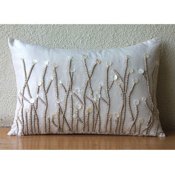 Decorative Oblong / Lumbar Throw Pillow Covers Accent Pillows Couch Sofa Pillow Case 12x16 Silk ...