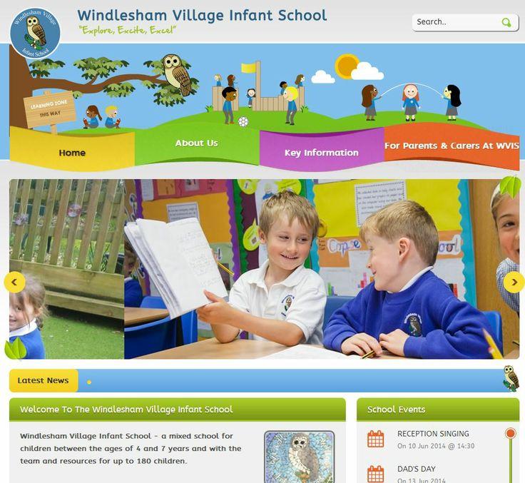 Windlesham Village Infant School (http://www.windlesham.surrey.sch.uk/) website featuring #calendarfunctionality & #video #schoolmarketing #websitesforschools