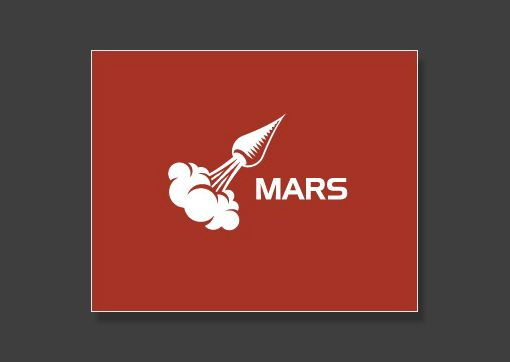 Mars logo - is it a carrot, is it a rocket ship...I don't know........but I DO know it's awesome.