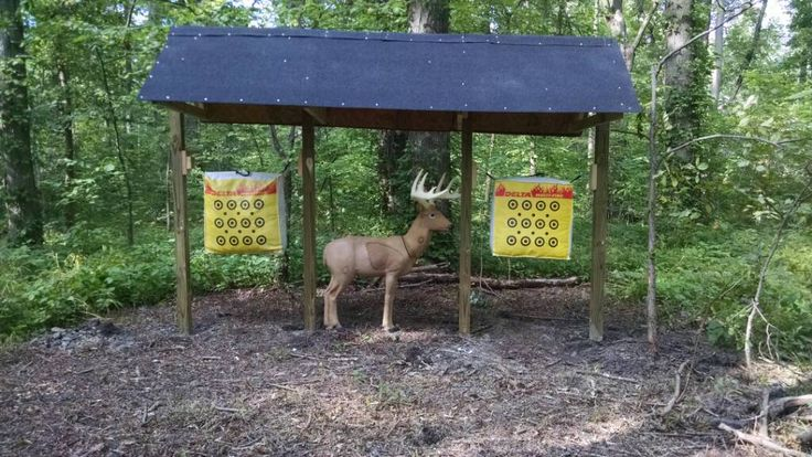 Backyard Archery Range! Three targets, covered range, this is great!