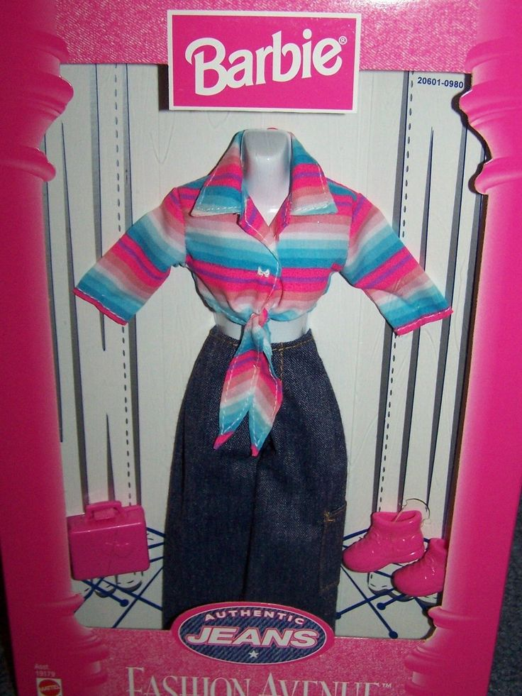 Turquoise Barbie House: Barbie Fashion Avenue Authentic Jeans Turquoise Pink