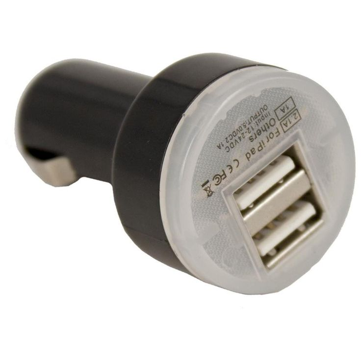 Dual Port Universal USB Car Charger 12-24V USB car charger suitable for charging e-Cig, iPhones, iPads and other accessories. Use this USB charger to charge all eCigarette Starter Kit.