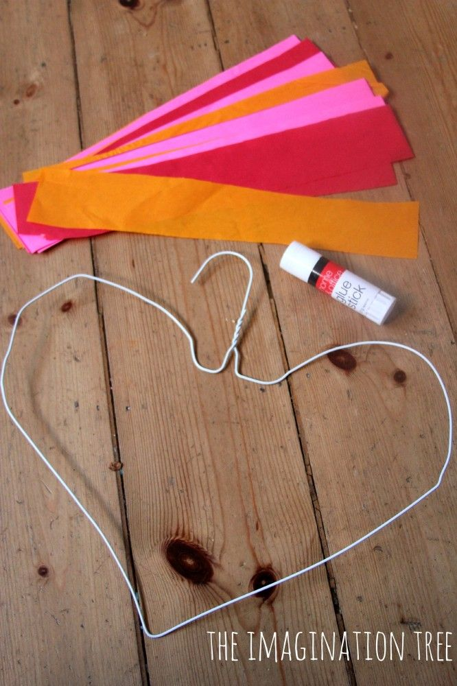 Wire Hanger Hearts