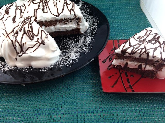 Passover Desserts: Chocolate Layer Cake with Italian Meringue