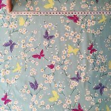 Michael Miller tessuto Fiori di farfalla color-Rosa-Porpora