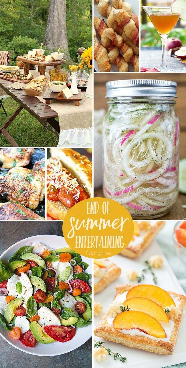 End of Summer Entertaining inspiration and recipes