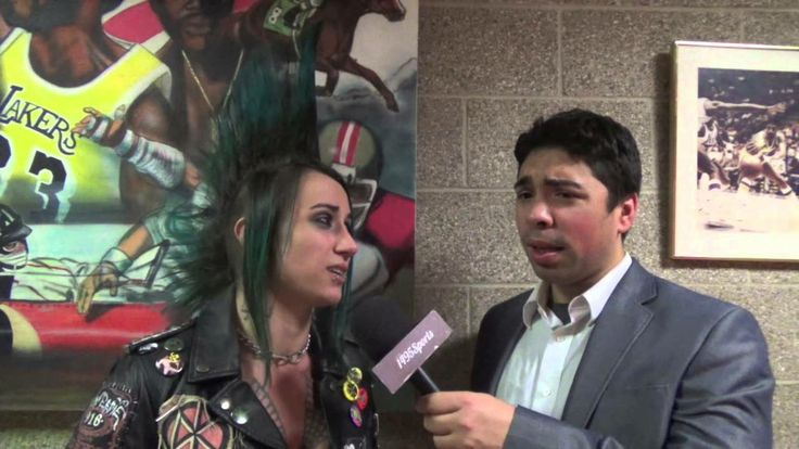 Brandon Lewis interviews Christina Von Eerie at the FWE Grand Prix Finals