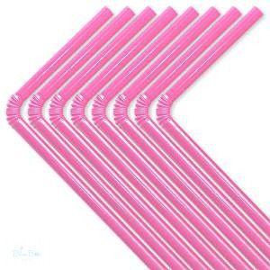 Parti Szívószál Műanyag Pink- 50 Db