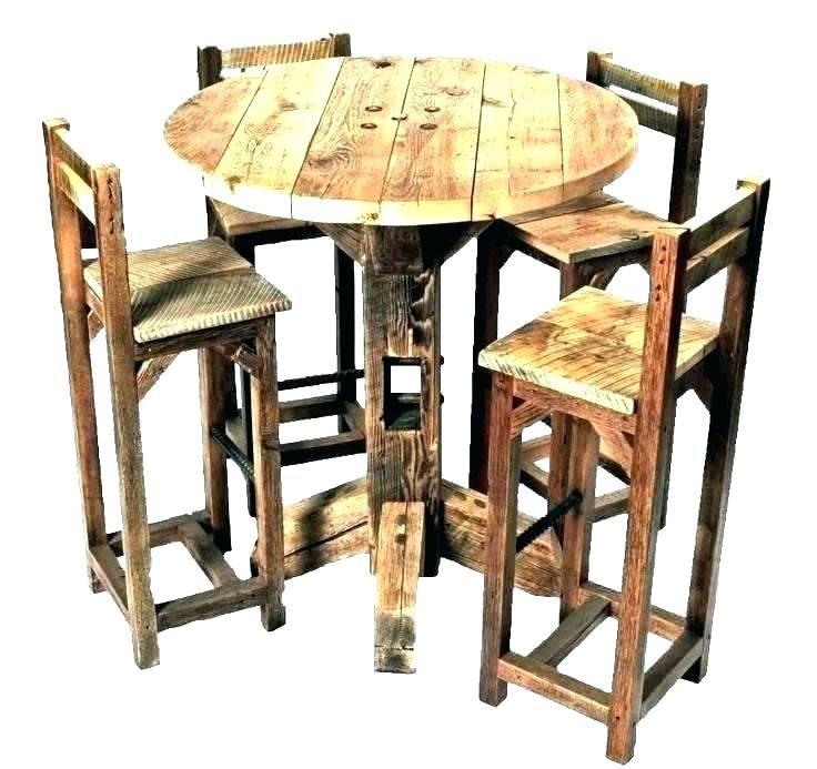 Delightful Rustic Pub Height Table Snapshots Rustic Pub Height