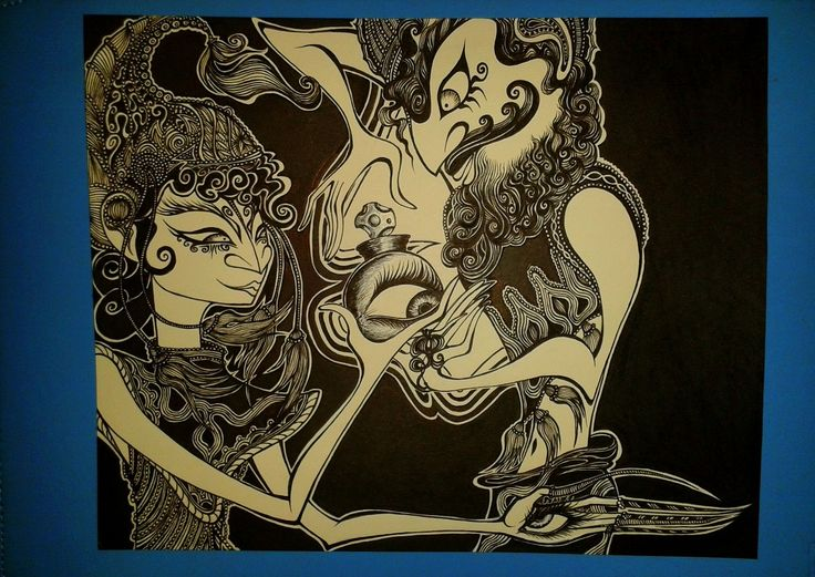 "Wayang Golek (""The eyes reappear"") by chckn"