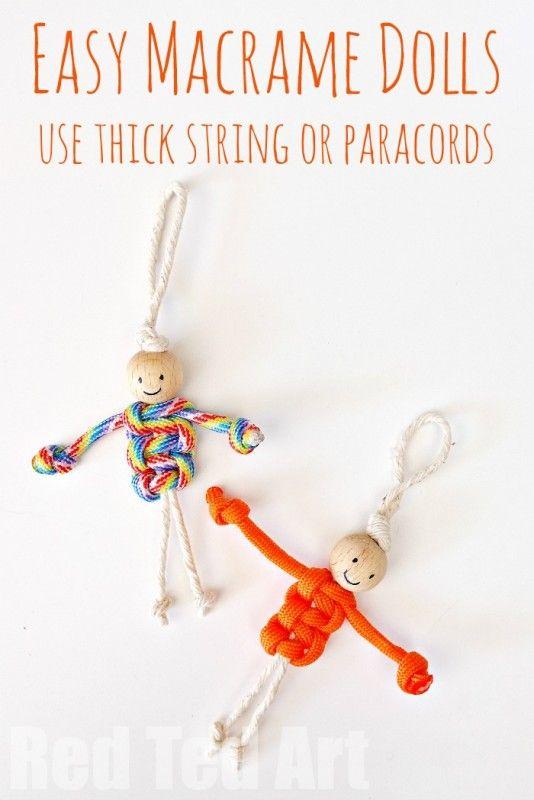 Easy Macrame Dolls (using Paracords)