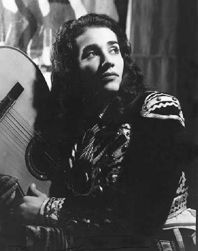 Chavela Vargas in a traditional Mexican Charro ensemble