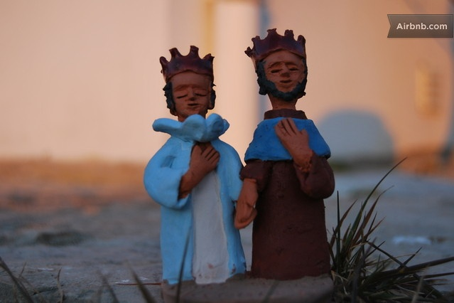 Pedro e Ines - clay workmanship made by the host António, for his guests... how sweet is that?