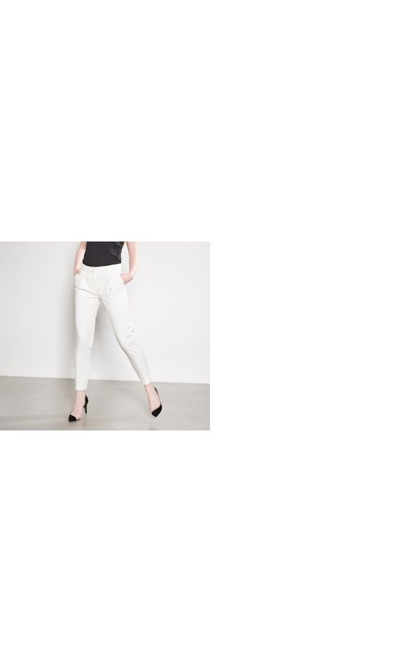 LADIES` TROUSERS, TROUSERS, ivory, RESERVED