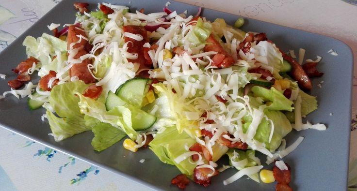 Baconos-virslis saláta recept | APRÓSÉF.HU - receptek képekkel