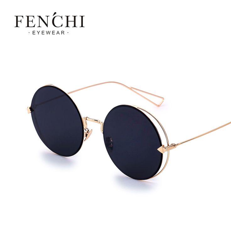 Barato Fenchi Legal Senhora Óculos de Sol Óculos Redondos Óculos de Sol Revestimento de Espelho óculos de Sol Das Mulheres Designer De Marca Feminina de Alta Qualidade Eyewear UV400, Compro Qualidade Óculos de sol diretamente de fornecedores da China: