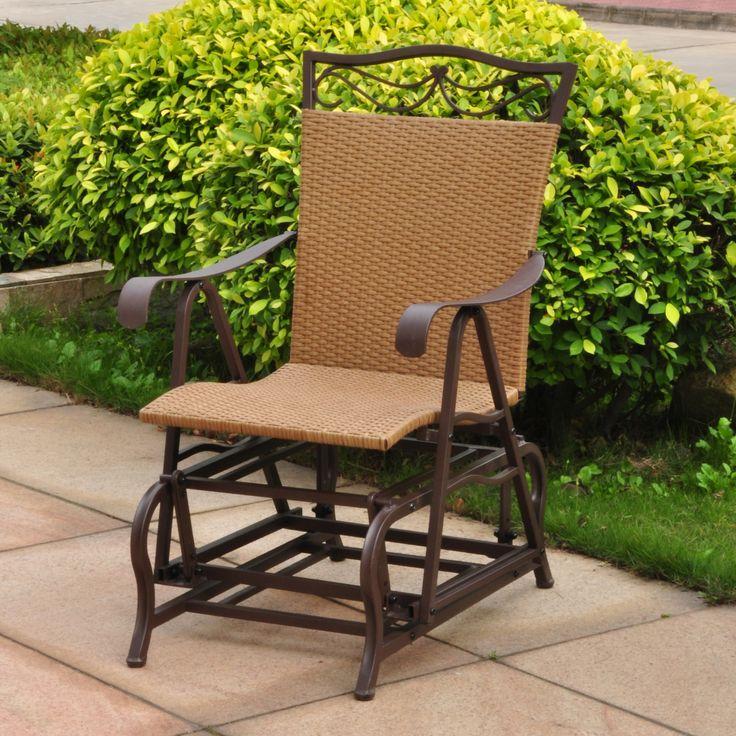 Valencia Outdoor Wicker Patio Glider Chair