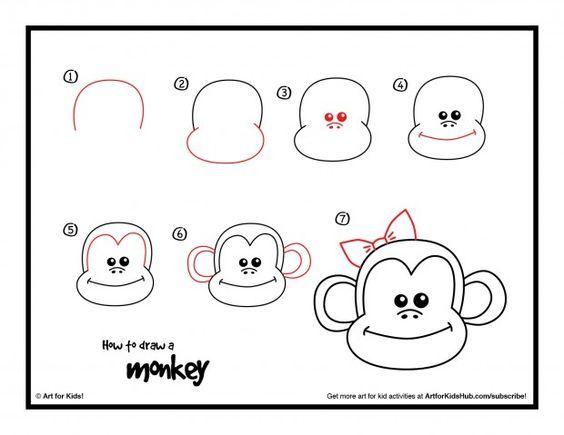 Aap tekenen - Hoe teken je een..... | Pinterest - Tekenen ...