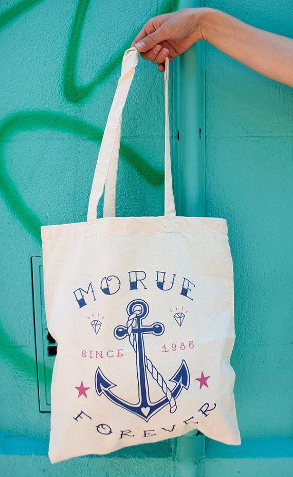 Tote Bag Morue Forever par LolitaPicco sur Etsy,
