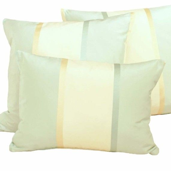 High End Designer Throw Pillows Part - 17: Luxury Silk Pillows In Cream Aqua Mint Gold. Stunning, High-end, Silk