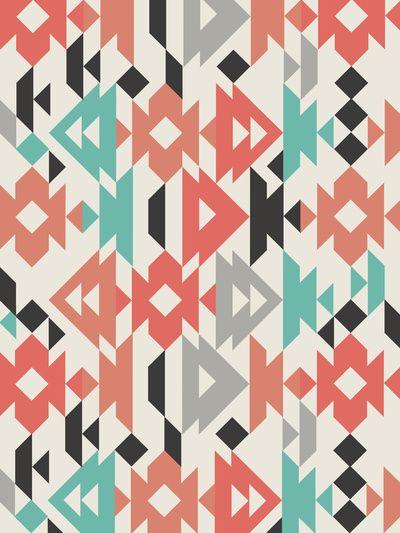 Caleido Triangle Art Print by Karen Hofstetter   Society6  #pattern #print