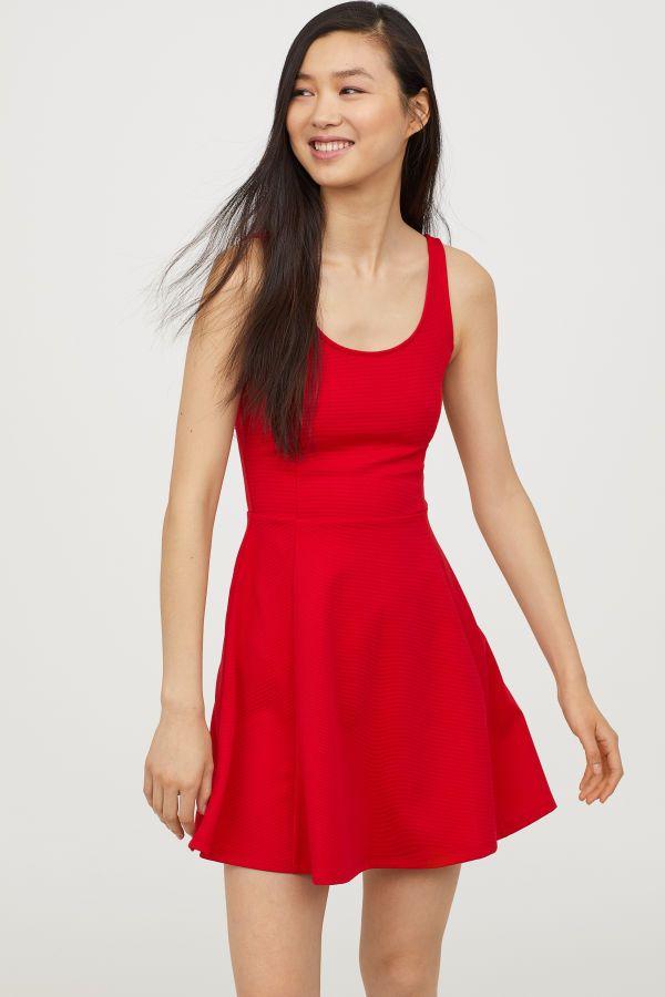 07c5fc5cf40e Sleeveless Jersey Dress | Red | WOMEN | H&M US | casual | Dresses ...
