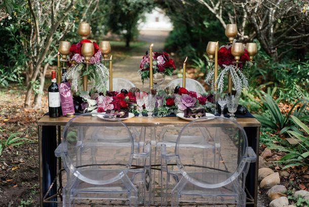 Aubergine & Vine Wedding Inspiration by Debbie Lourens & Kadou