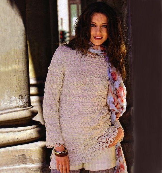 Warm crochet tunic PATTERN warm crochet by FavoritePATTERNs